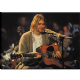 Kurt Cobain Singing Live steel fridge magnet (cv)